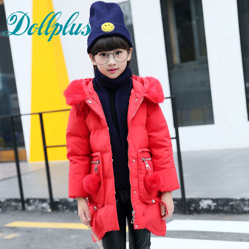 Girls Jacket Winter Jackets Thickening Down Coat Children Girl Kids Clothes Coats Parka Korean 4~12 Year Fashion girls down coats girl winter collar hooded outerwear coat children down jackets childrens thickening jacket cold winter 3 13y