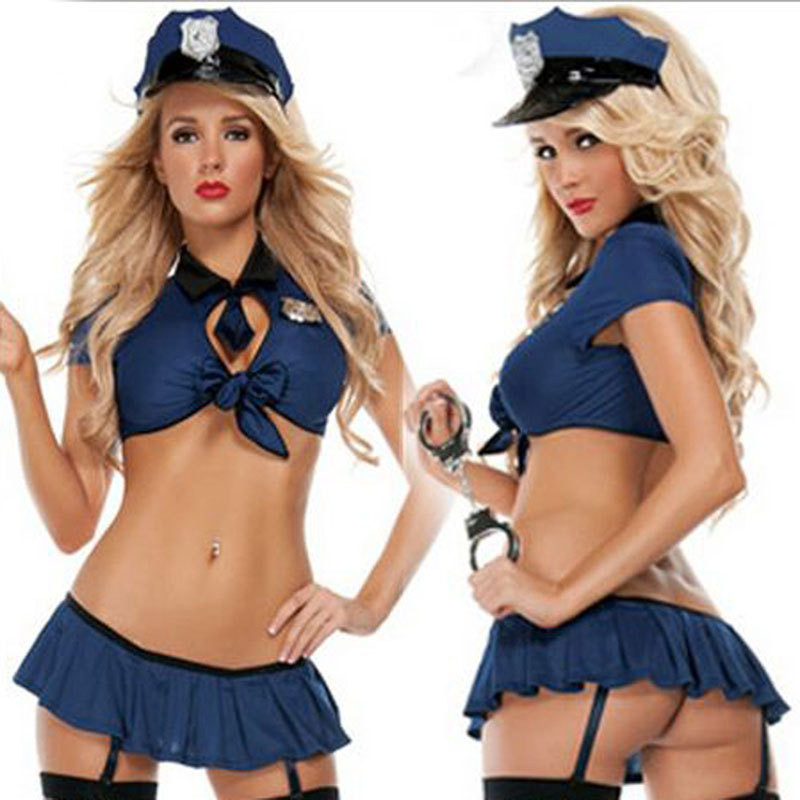 Hottie Police Uniform Sexy Cop Fancy Halloween Costume Police Officer Bedroom Costume Pole Dancer Costume Sexy Erotic Lingerie