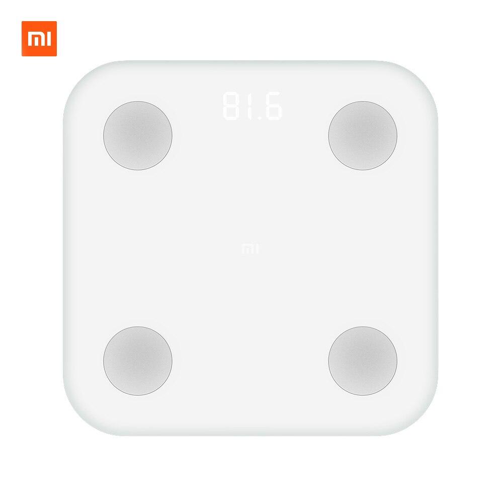 Xiaomi mi Smart весы состава 2 Вес здоровья mi fit приложение контроль за телом Скрытая светодио дный Дисплей и большой коврик для ног жира BMR Тесты