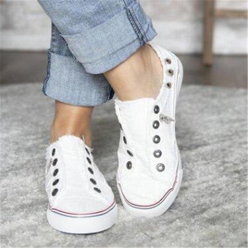 2019 Fashion Women Sneakers Denim Casual Shoes Female Summer Canvas Shoes Trainers Ladies single shoes Tenis Feminino 1