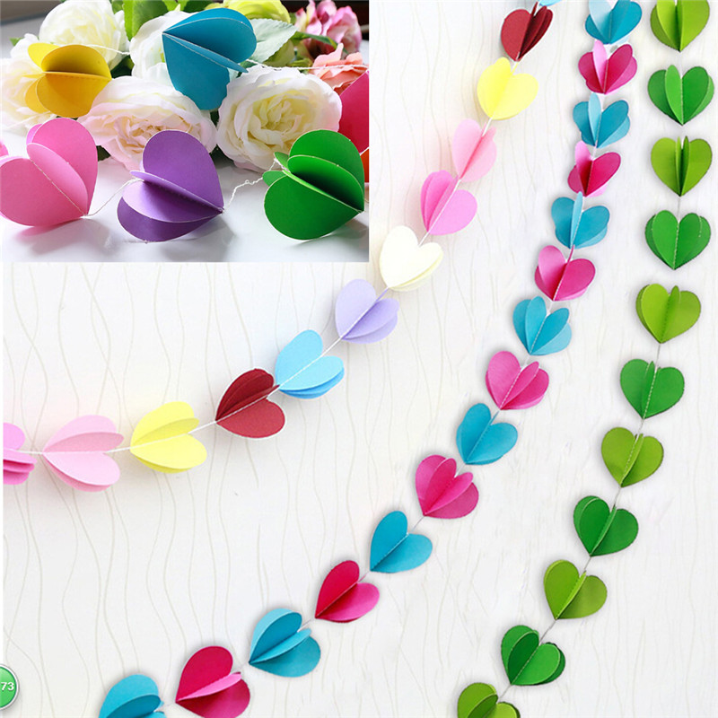 Wedding anniversary decoration at home choice image wedding baby hanging toy heart round shape hanging paper garlands for home baby hanging toy heart round junglespirit