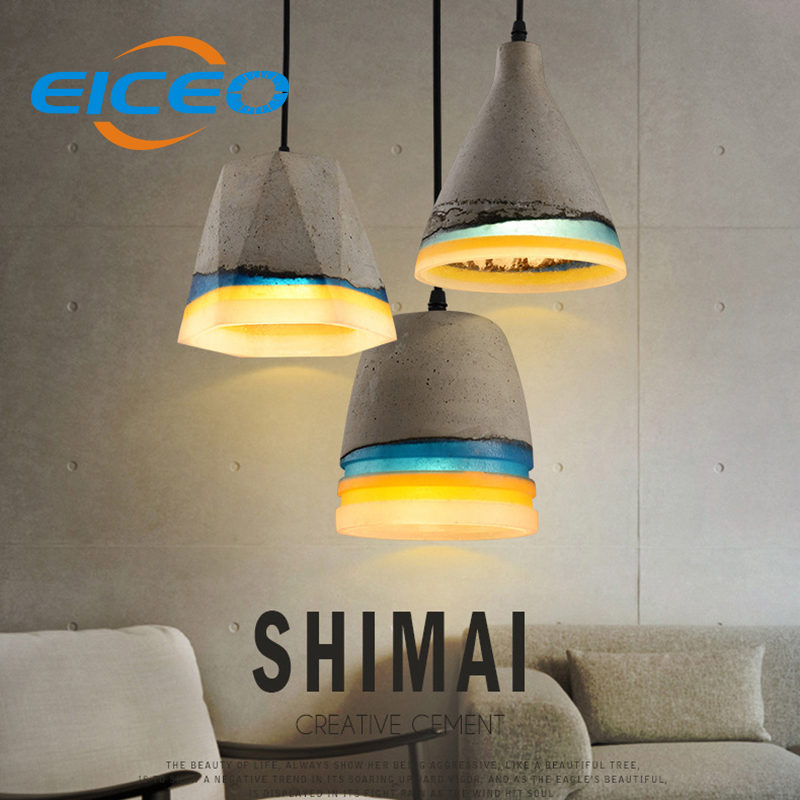 (EICEO) Nordic Ancient Art Cement Resin Creative Pendant Lamp,minimalist retro cement lampshade for indoor Cafe/Bars Decor light eiceo nordic ancient art cement resin creative pendant lamp minimalist retro cement lampshade for indoor cafe bars decor light