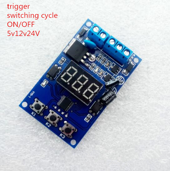Delay Time Relay Module Timing Switch on/off Control Cycle Timer LED Display Intelligent Control Time Relay/Delay with trigger adda ad7512hb 7530 dc12v 0 24a