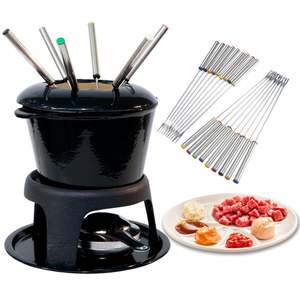 Forks Fondue Marshmallows Cheese-Chocolate Heat-Resistant-Handle Stainless-Steel