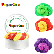 Fluffy Slime Supplies Goo Gum Temperature Change Turns Color Putty light Clay Fimo Plasticine Mud Air Soft Toys Kids Gift