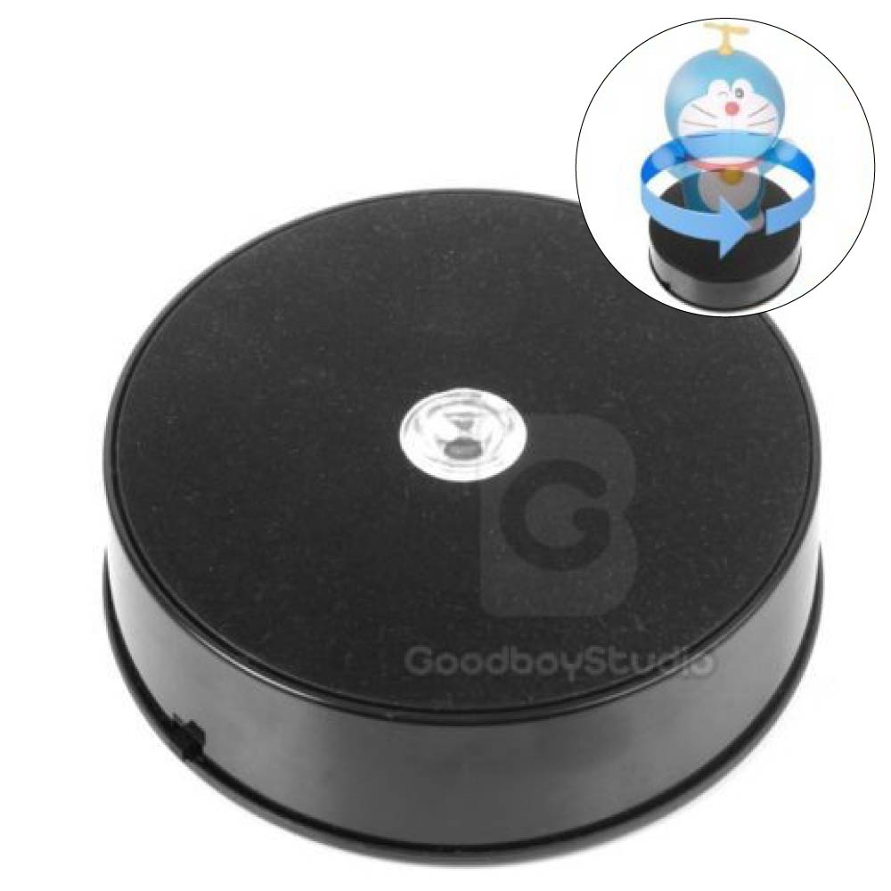Fotoconic 14cm LED 3D Photo 360 Degree Electric Rotating Turntable Stand for Photography Jewelry Model Show Centric Load 1kg