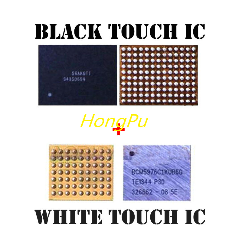 2pair/lot White BCM5976 U2401 +black 343S0694 U2402 Touch Digitizer Screen Ic Chip For IPHONE 6/6+/6 Plus