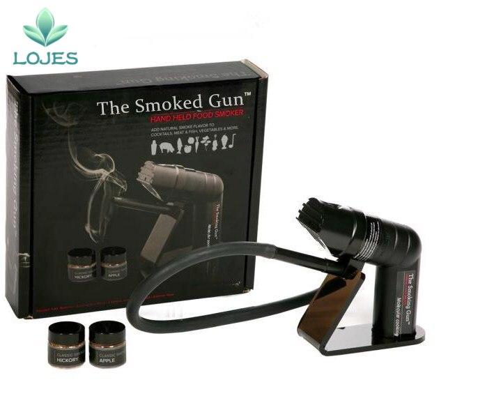 1 세트 흡연 총 핸드 헬드 음식 흡연자 전문 금속 barware 바 도구-에서기타 바 도구부터 홈 & 가든 의  그룹 1