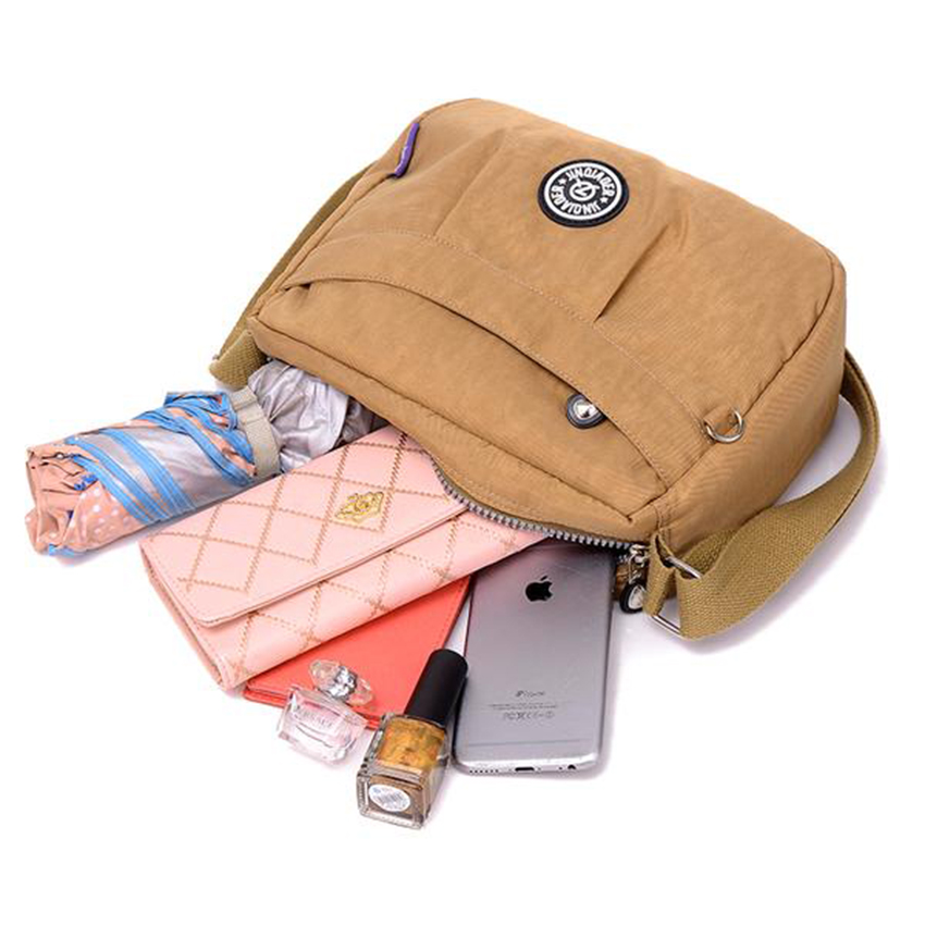 Kople Brand Original Fashion Waterproof Nylon Messenger Bag For Women  Travel Bags Ladies Shoulder Bags necessaire monkey bag 212-in Shoulder Bags  from ... 5fb35ecd12812