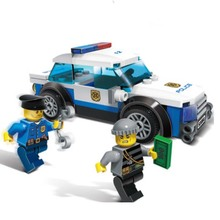 83pcs City Series Police Cared Man Cops Vehicle Diy Educational Bricks Building Block Kids Toy Compatible With Sermoido