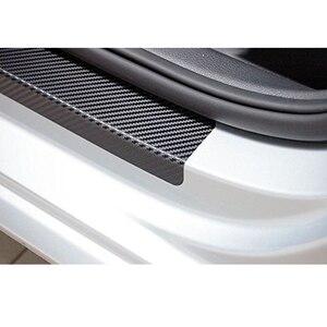 Image 4 - 4pcs Fashion sticker Car Door Sill Protector Sticker Carbon Fiber Vinyl Sticker For Ford Smax S MAX