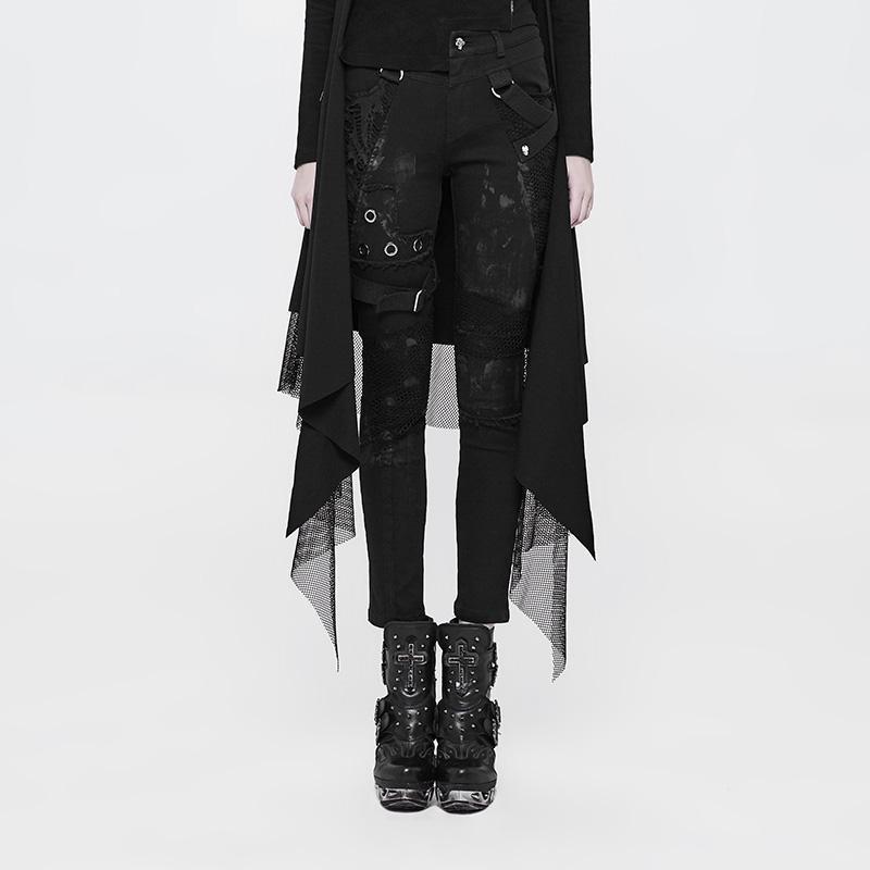 Женские обтягивающие брюки в стиле панк WK 319NCF