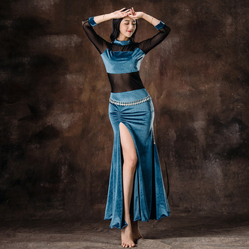 Belly Dance Costume Women Practice Clothes Oriental Dance Performance Clothing Professional Belly Dance Costume DQL991