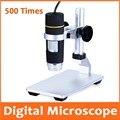 500X Elettronici A LED Lente di Ingrandimento Da Tasca Microscopio Digitale USB con Alzabile Basamento della staffa per il Salone di Bellezza di Rilevamento Della Pelle