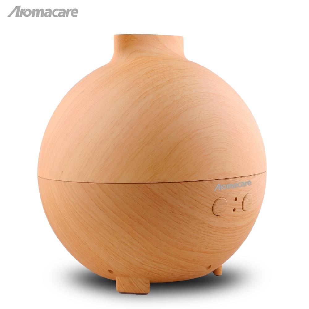 Aromacare 600mL UFO Ultrasonic Aroma Diffuser Wood Grain Aromatherapy Diffuser Essential Oil Diffuser Aroma Lamp for