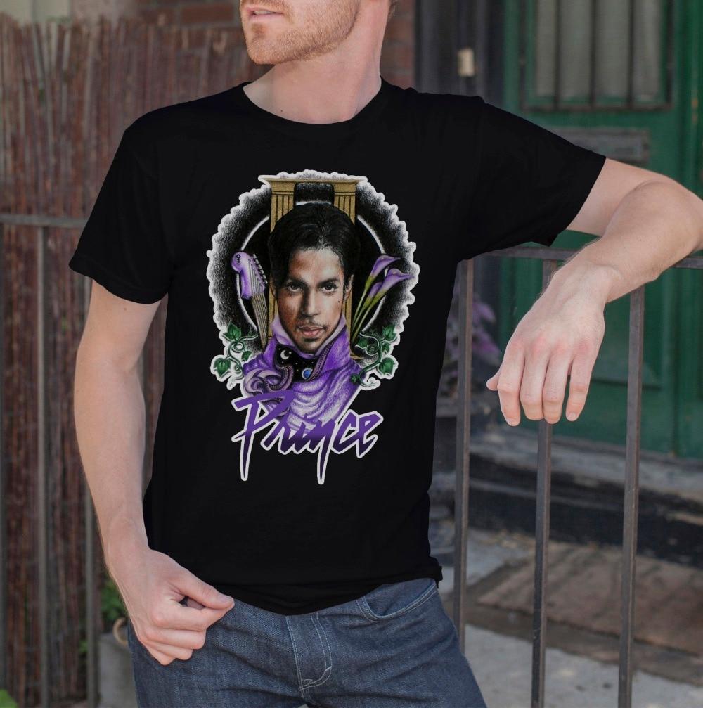 2018 Short Sleeve Cotton T Shirts Man Clothing Prince Men Black T-Shirt Purple Rain Rock Legend R.I.P Tee Shirt SIZE S-3XL