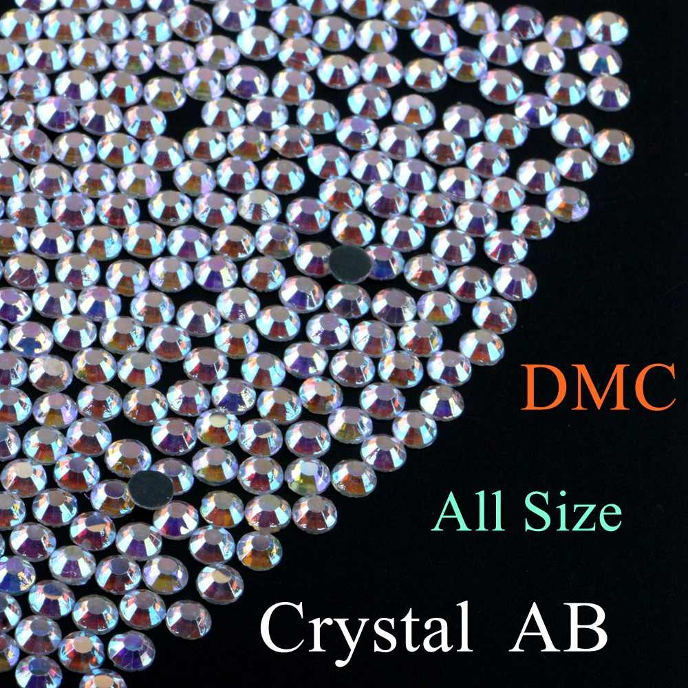 Crystal AB Color DMC Quality Hotfix Rhinestone Glass Crystals Stones Hot  Fix Iron 2f0a59a5e5ed