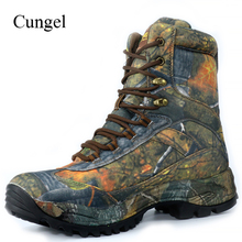 Cungel Sneakers Men Camouflage Outdoor Hiking Shoes Winter/Autumn waterproof Nylon Tactical Boots Male Trekking Climbing