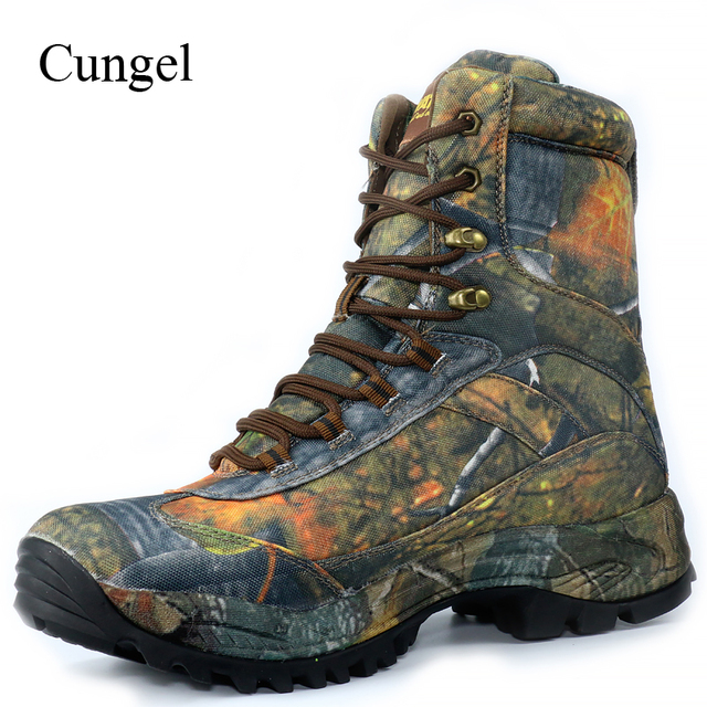 Cungel Sneakers Men Camouflage Outdoor Hiking Shoes Winter/Autumn waterproof Nylon Tactical Boots Male Trekking Climbing Shoes