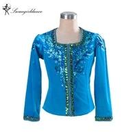 blue bird men's ballet top boy's ballet jacket for man dance costumes boy coat for ballet professional ballet topBM0006