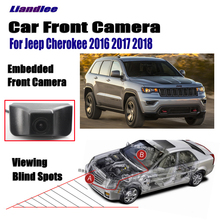 Liandlee For Jeep Cherokee 2016 2017 2018 Car LCD Screen Monitor 4.3 Front View Camera Grill Embedded Cigarette Lighter Switch