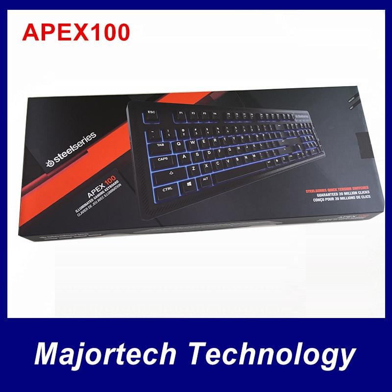 ФОТО 100% New arrival original SteelSeries Apex 100 keyboard machancial feel/blue backlit
