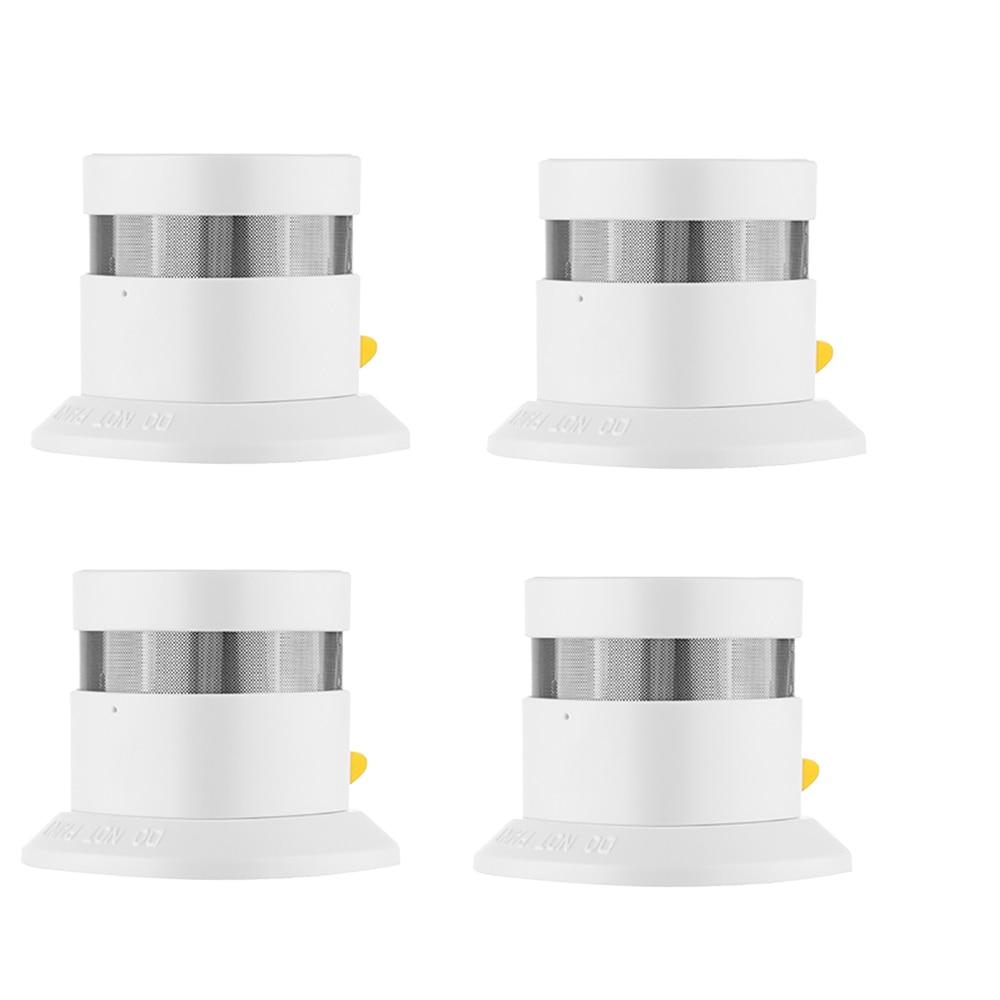 Z-wave Plus Smoke Sensor Smart Home EU Version 868.42mhz Z Wave Smoke detector Power Battery Operated 4pcs/lot