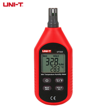 UNI T electrónico Mini medidores de humedad temperatura UT333 hogar Interior Exterior termómetro higrómetro pantalla Digital LCD