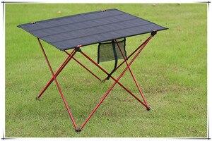Image 2 - 1pc Outdoor Klapptisch Ultra licht Aluminium Legierung Struktur Tragbare Camping Tisch Möbel Faltbare Picknick Tisch
