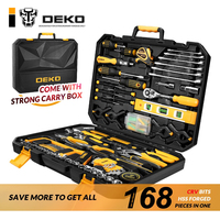 DIY Tools Set 168pcs Socket Wrench Auto Repair Tool Combination Mixed Hand Tool Kit Household Portable Storage Case for Father