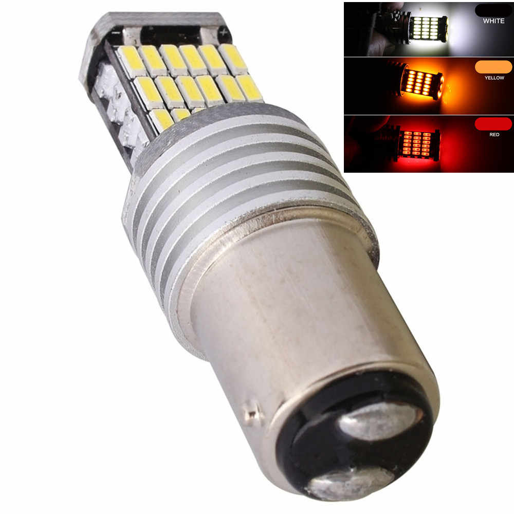 Car 1157 BAY15D p21/5w LED 4014 45 SMD Led 1016 7528 double contact High Auto Turn Brake stop Tail Light car styling