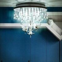 אירופאי סגנון קריסטל תקרת אור מסעדת חדר שינה מעבר מרפסת סלון תאורת שרף מלאך תקרת מנורות ZA SJ31| |   -