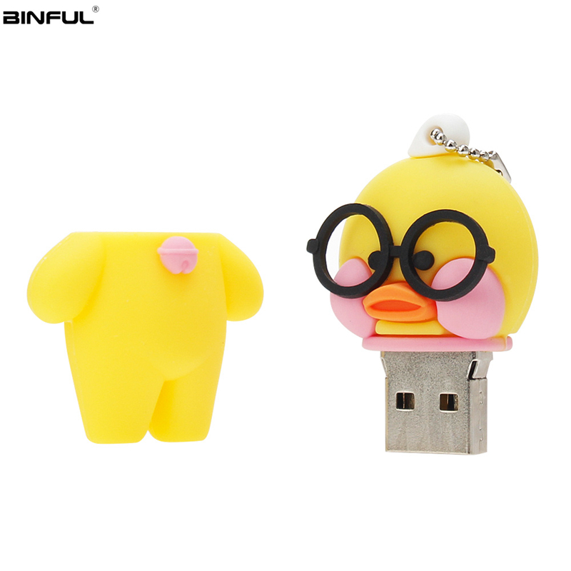 Image 2 - Cartoon Usb Flash Drive 2.0 High Quality Pen Drive 4gb 8gb 16gb 32gb 64gb 128gb Hyaluronic Acid Duck Pedrive Funny Memoria Usb-in USB Flash Drives from Computer & Office