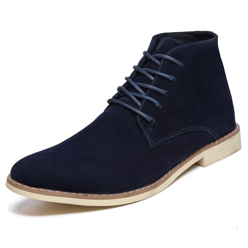 В стиле ретро на каблуке 3 5 см, ботильоны на высоком каблуке Для мужчин классические кожаные ботинки martin красного и черного цвета с заклепка... - 5