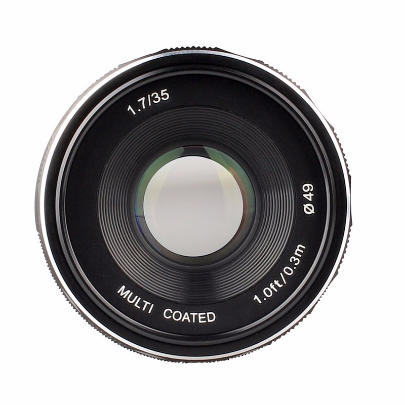 Meike MK-N1-35mm-f/1.7 35mm f1.7 Large Aperture Manual Focus lens APS-C For Nikon 1 mount J1 V1 new and original for niko 35mm f 1 4g 35mm name plate jaa13451 1310