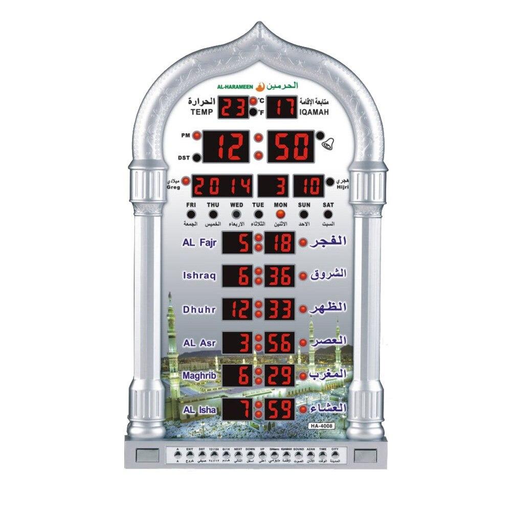 Image 4 - Islamique Led Azan horloge musique jouant cadeau mur Table  mosquée musulman prière calendrier décor à la maison temps rappelant  Ramadan automatiqueHorloges à poser