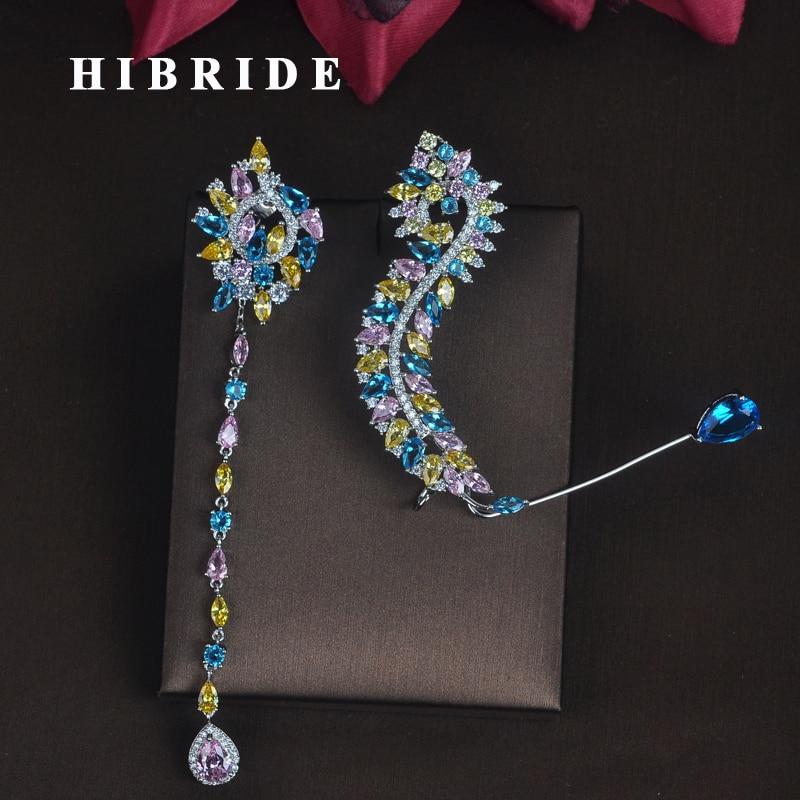 HIBRIDE New Unique Design Women Bride Party Show Drop Earrings Fashion Jewelry Brincos Pendientes Boucle d'oreille E-686 e home bride 3550cm холст