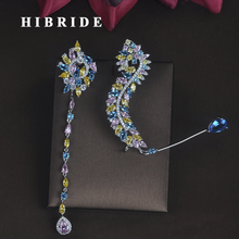 HIBRIDE New Unique Design Women Bride Party Show Drop Earrings Fashion Jewelry Brincos Pendientes Boucle doreille E 686