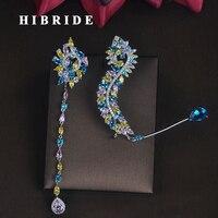 HIBRIDE nouvelle conception Unique femmes mariée fête spectacle goutte boucles d'oreilles mode bijoux Brincos Pendientes Boucle d'oreille E-686