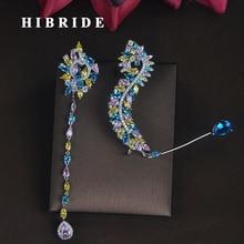 Женские Висячие серьги HIBRIDE, уникальный дизайн, для вечеринки невесты, шоу, модное Ювелирное Украшение