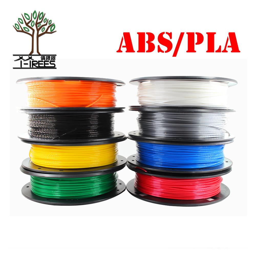 DIY 3d printer filament more colors Optional PLA/ABS 1.75mm MakerBot RepRap plastic Rubber Consumables Material 0.30/KG