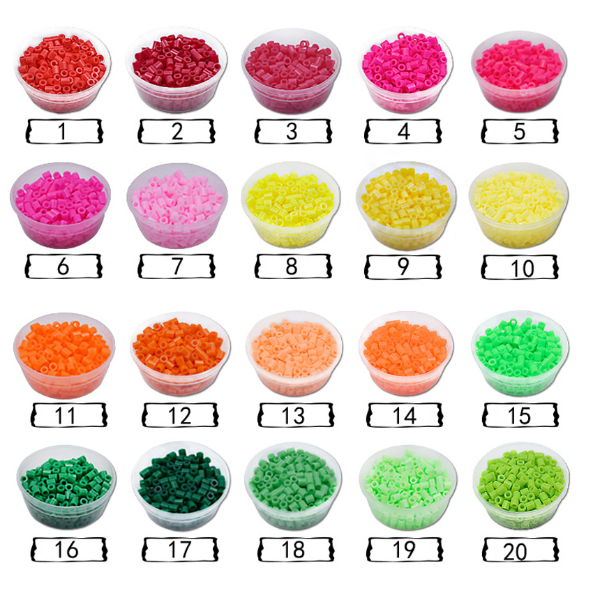 DOLLRYGA 5mm hama beads 50Color Beads Boxed for Kids DIY Puzzles High Quality Perler Handmade Toys children Gifts