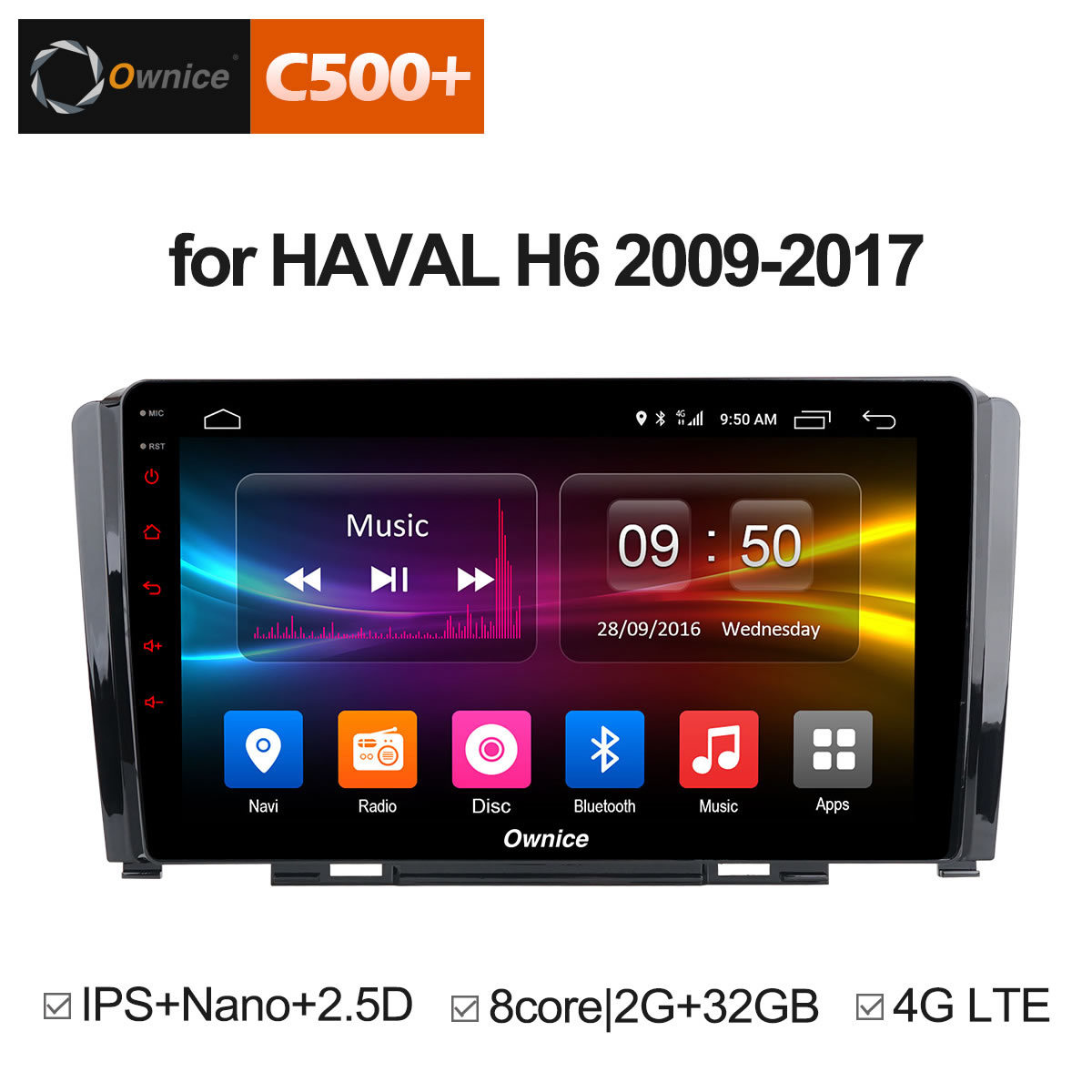 Ownice C500 + G10 Octa Core lecteur DVD de voiture Android 8.1 pour grande muraille Hover Haval H6 2G RAM + 32G Flash Radio GPS Navigation 4G LTE