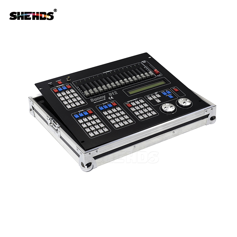 Flight Case with Sunny512 Channels DMX512 DMX Controller DJ Disco DMX Lighting Consoles Professional Stage Lights Control high quality ma controller ma onpc commond wing dmx lighting console 1536 channels with flight case