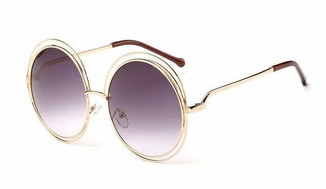 8cc369569ce YAYA 2017 Lunettes De Mode Ronde Sauvage Fox lunettes de Soleil Femmes  Hommes Vrai Membrane Rétro