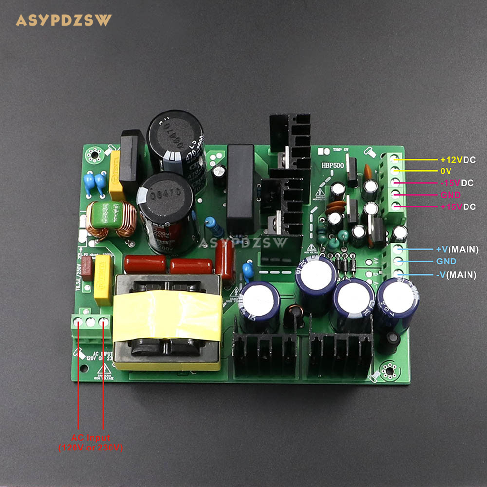 500W +/-65V Digital power amplifier switching power supply board Dual-voltage PSU board 1000w 90v llc soft switching power supply high quality hifi amplifier psu board diy