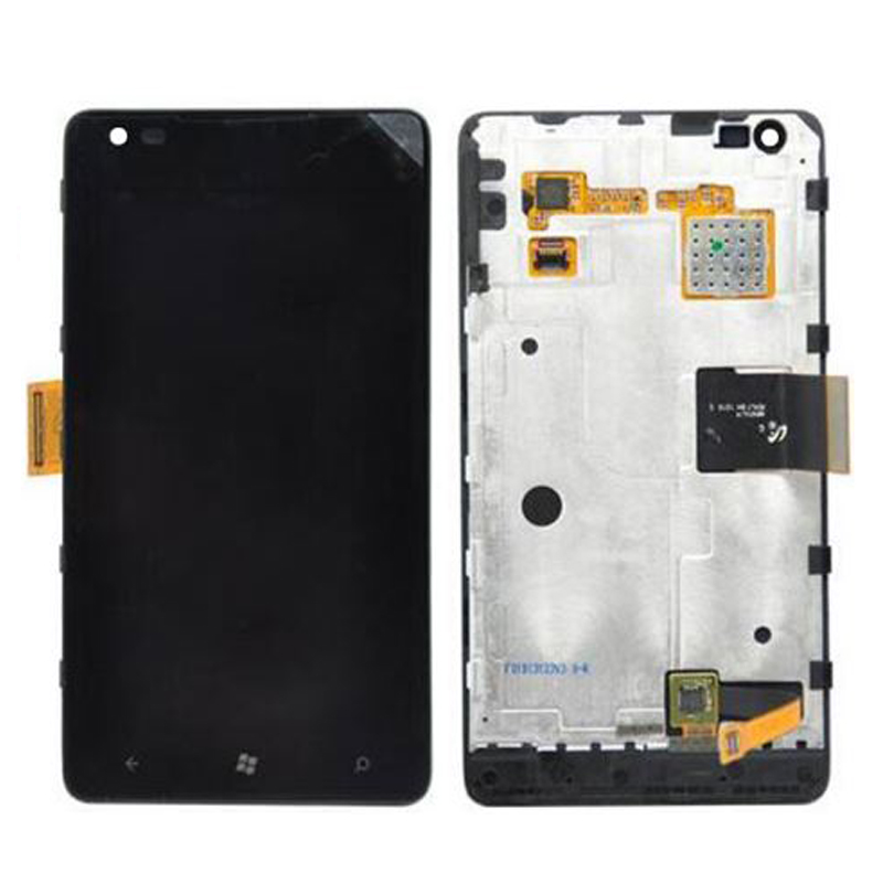 ФОТО For Nokia Lumia 900 LCD Display with Touch Screen Digitizer Assembly With Frame Free Shipping