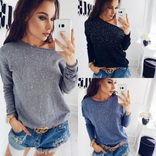 Autumn New in 2017 Women Solid Loose Long Sleeve Cardigan Knitted Sweater Jumper Outwear Coat Knitwear