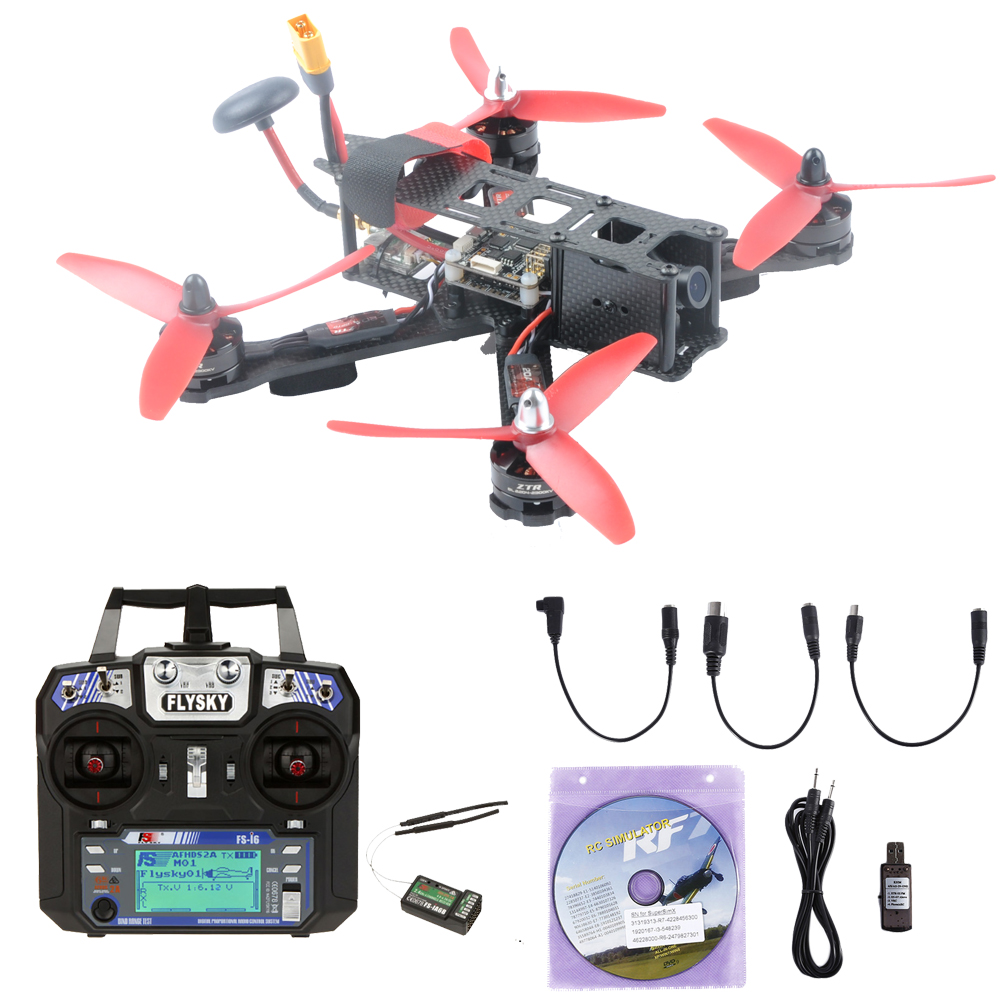 High Speed  220mm 220X QAV-R QAV220 Mini FPV RC Racing Drone Quadcopter with F4 Flight Controller Present RC Simulator carbon fiber frame diy rc plane mini drone fpv 220mm quadcopter for qav r 220 f3 6dof flight controller rs2205 2300kv motor