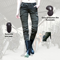 2016 Uglybros MOTORPOOL Jeans Leisure Riding Motorcycles Jeans Equipped With Protective Gear UBP-06 ArmyGreen RELAXED Woman